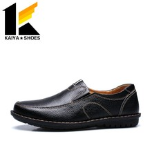 2016 MAN'S KOREA LATEST DESIGN SUMMER MATCHING COLOR BREATHABLE LEISURE SLIP-ON LEATHER SHOES
