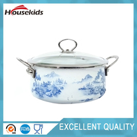 Hot sell enamel kitchen cookware sets