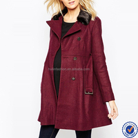 maternity clothing wholesale winter coat with faux-fur collar beautiful red pregnant outwear