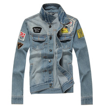 New Premium Wholesale Men's Jeans Jackets With Metal buttons Non Brand