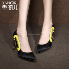 2017 Chinese traditional luxurious genuine black satin women high-heel shoes girls pumps on sale