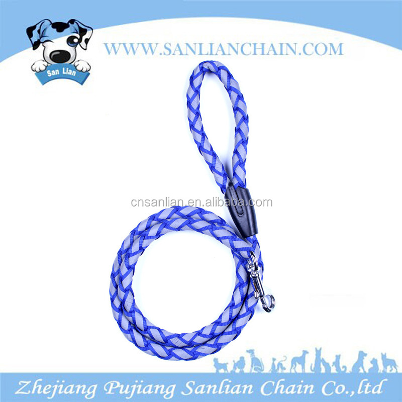 wholesale pet supply best selling products braided nylon rope leash dog leashes
