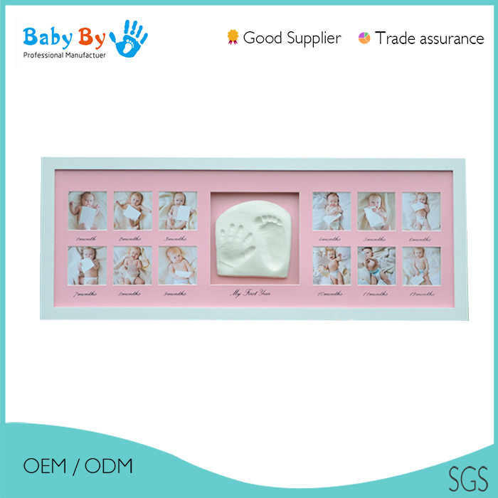 Bebé arcilla impresión marcos diseño con doble-Sets de Regalo ...