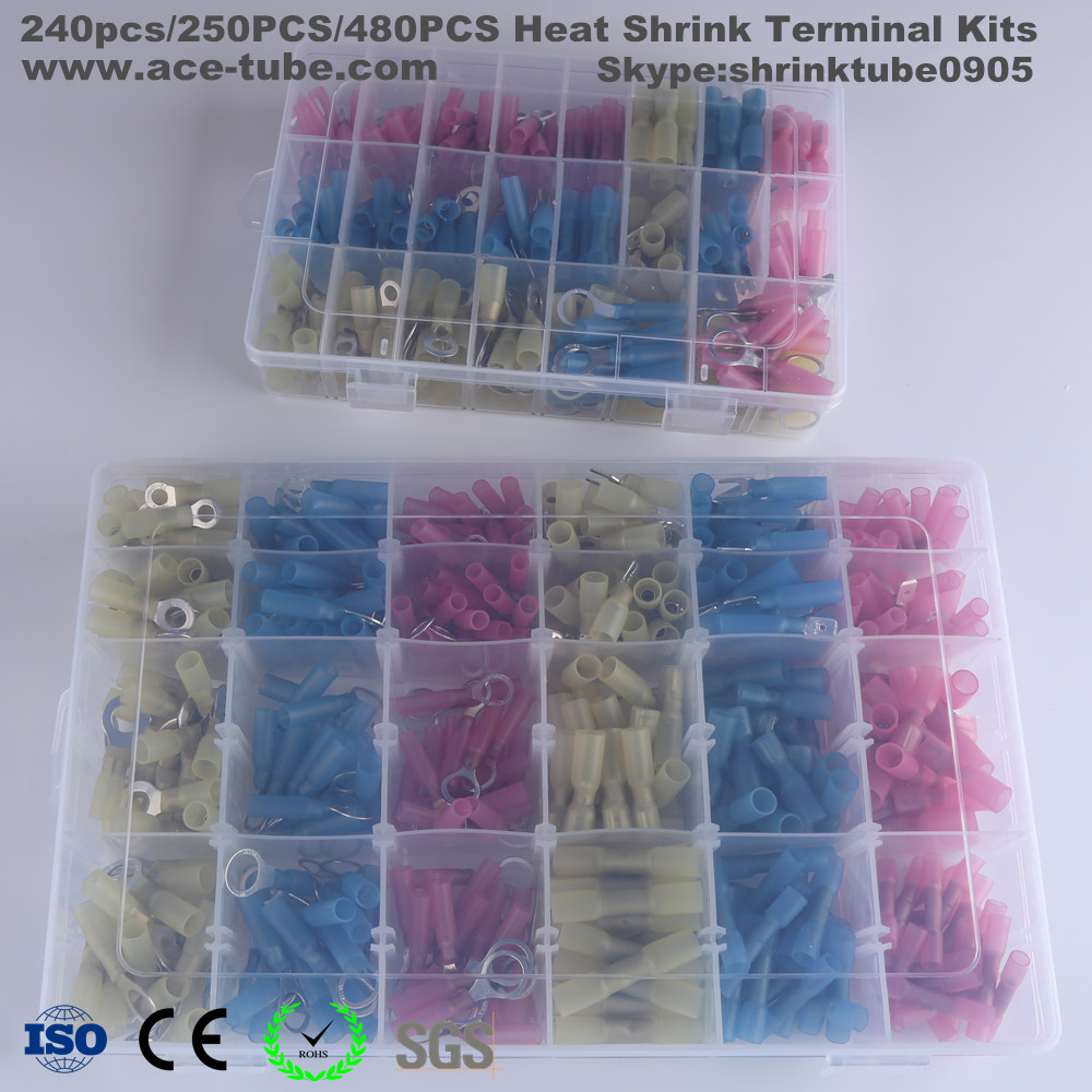 240pcs/ 250pcs/480pcs Automotive Marine Application Heat Shrink Connector Kit