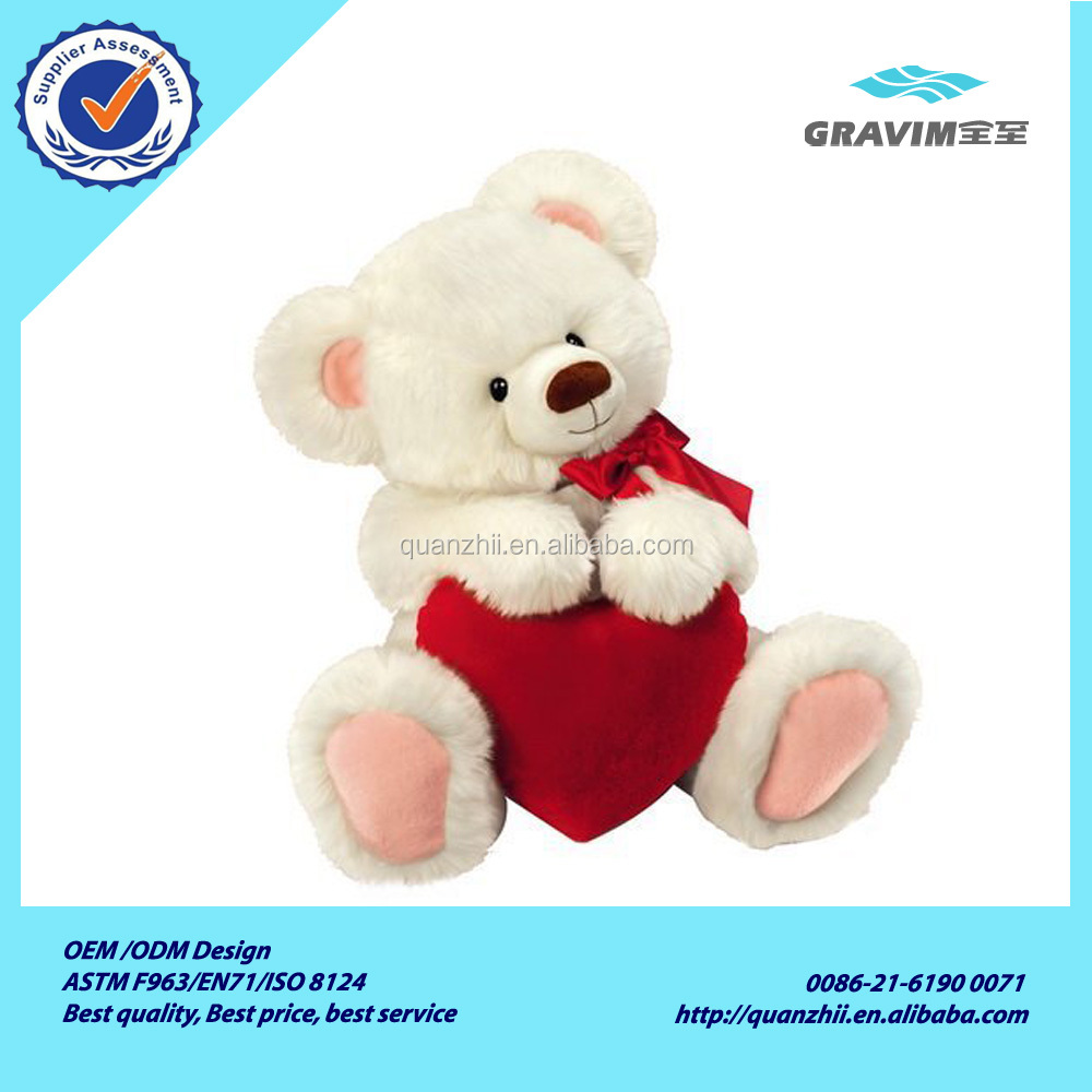 manufactureres china valentine plush gift stuffed teddy bear toy