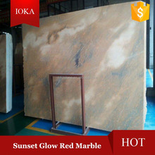 Sunset Glow Red Marble Polished Slabs and Tiles