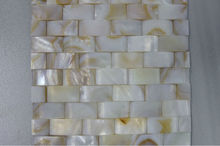 River shell white mother of pearl instant mosaic