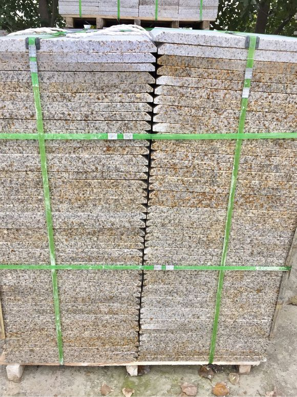 China factory directly supply cheap patio yellow rustic granite paver stones for sales