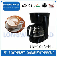 black color Easy to use espresso coffee maker machine with high quality