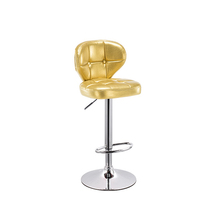 Hot sell yellow Restaurant Bar Furniture luxury chairs PU leather Narrow Back Stool
