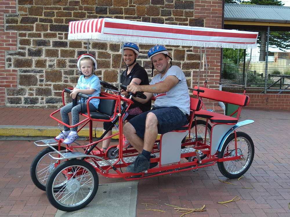 4 Person Bike Adult Pedal Car 4 Wheels Rickshaw