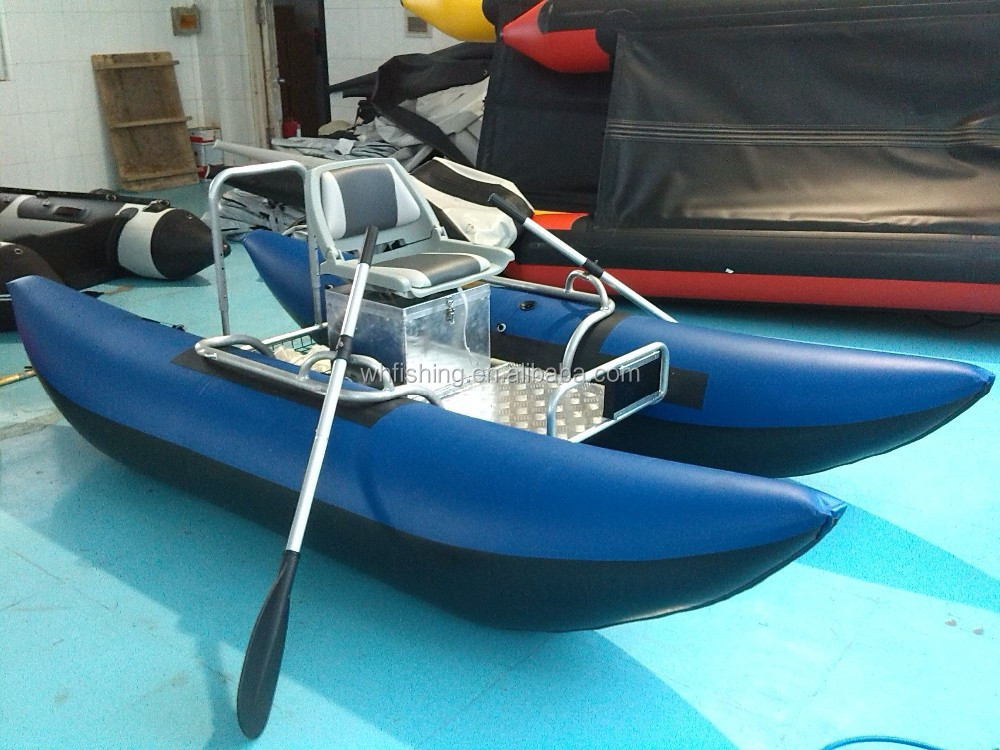 Made in china hand made inflatable pontoon boat for for Inflatable pontoon boat fishing
