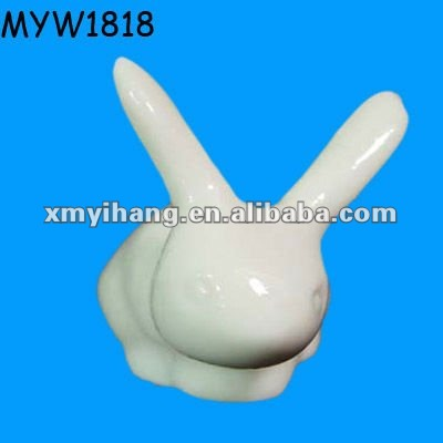 new rabbit shaped gifts porcelain ceramic spoon rest standing spoon rest
