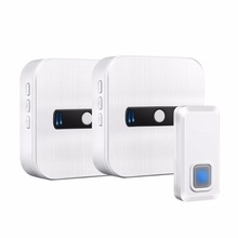 NURBENN 120v 2 receiver 2017 300m new technology 433 chime active non alexa speaker animal shaped boying classic metal doorbell