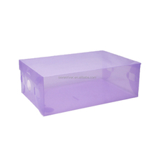 multi-color cheap factory foldable stackable clear plastic shoe box