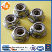 high quality flange nylon lock DIN6926 gr5 titanium hex nut