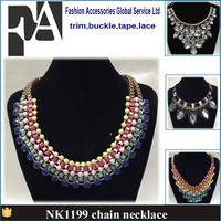 latest fashion design handmade beaded collar necklace for garment NK1199