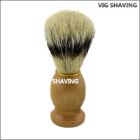 wooden handle faux badger boar bristle cheap shaving brush