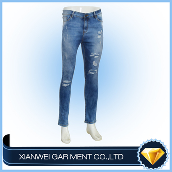 Strong quality cheapest great blue mens jeans