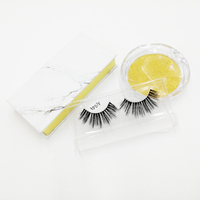 Wholesale faux mink eyelash private label 3d false eyelashes vendor messy faux mink lashes with custom package