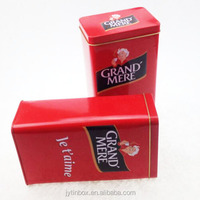 Promotional wholesale Customized printed coffee and tea packing tin box