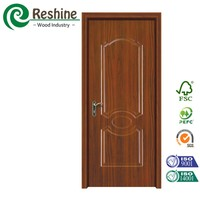 Hotel door molded melamine wooden door covering