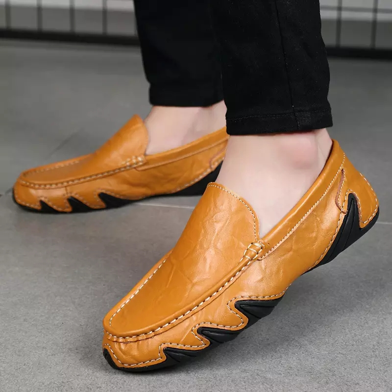 hand made wholesale fashion leather loafer shoes for men,leather casual shoes men, Genuine leather driving shoes