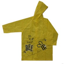wholesale high quality kids Logo printed raincoat