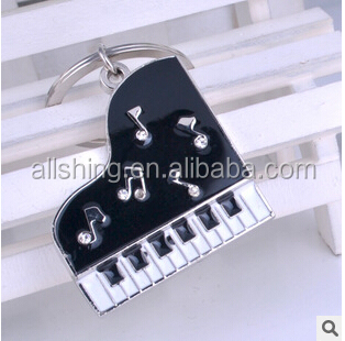 Promotional metal key chains/ Piano metal key chains wholesale music metal key rings