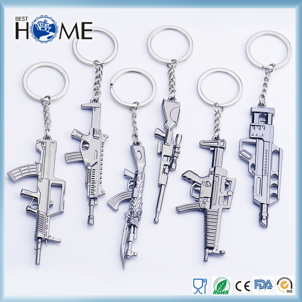 Wholesale Game Toy Custom Metal Mini Gun Keychain for Promotion