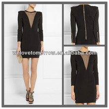 Wholesale clothes little black dresses, fashion clothing manufacture made in china with cheap price (TW0369D)