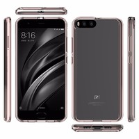 Clear View TPU Bumper Frame Case Cover for Xiaomi Mi 6 Mobile Phone Accessories Wholesale