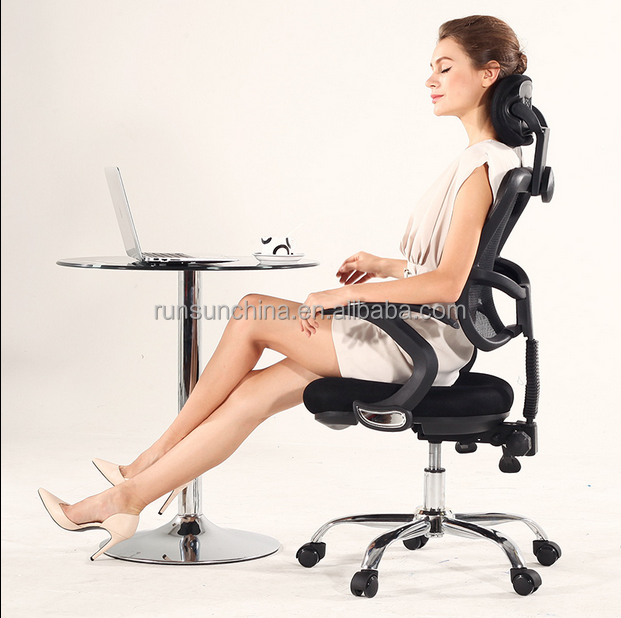 J18 hot sale wheel mesh office computer chair / beauty plastic chair for office