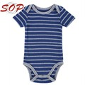 Baby one piece jumpsuit newborn clothing baby boys striped soft cotton rompers