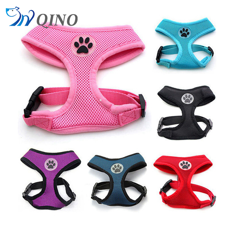 QN-A-0131 soft mesh fabric pets dog harness