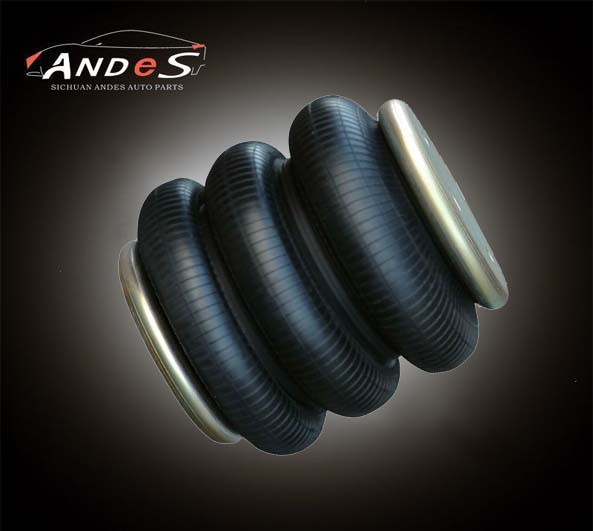 Triple Convoluted Rubber Air Spring For Refitted Car