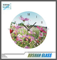 Safety Tempered Glass Wall Clock, Modern Design,Hot Selling