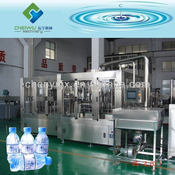 Automatic PET Bottle Still Water Filling Plant / Spring Water Filling Machine