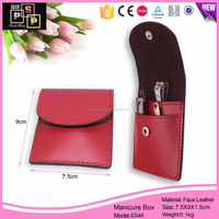 exquisite craftsmanship PU custom promotion leather jewelry pouch with logo