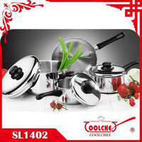 7pcs Stainless Steel Cookware Sets bakelite handle ss lid