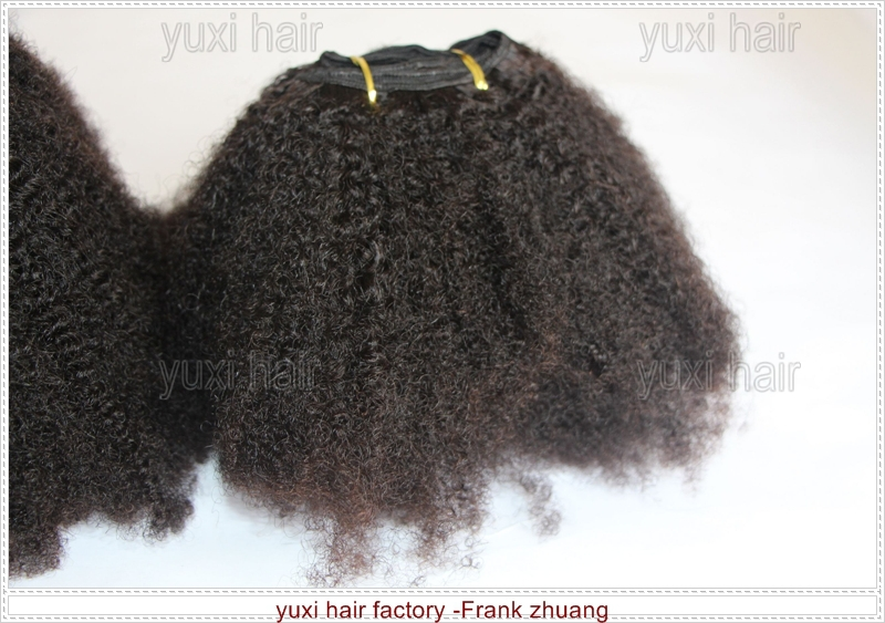 Instock afro kinky curly Virgin hair extensions