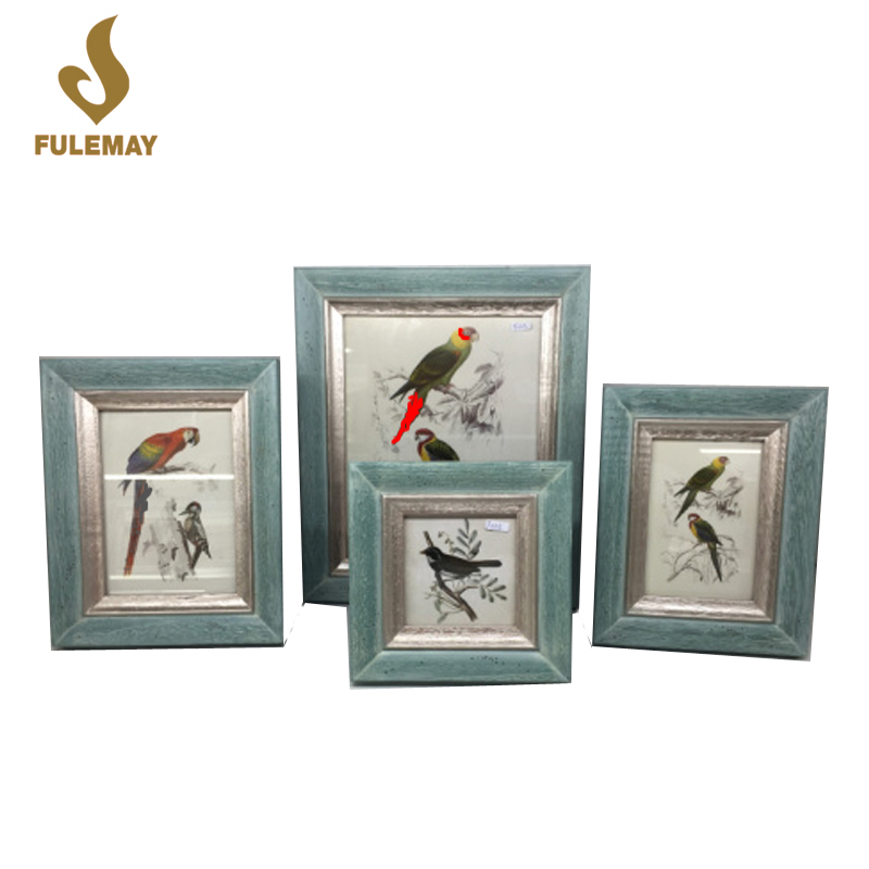 Pastoral Style Wooden Picture Poster Frame Wall Mounted Family Photo Frames