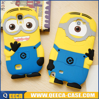 Cute cartoon 3D minions silicone case for samsung galaxy a5