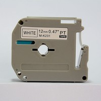 Good quality MK231 Label Tape Compatible brother M Tape M-K231 12mm black on white M-K231 M-K631 M-K431 M-K531 M-K731