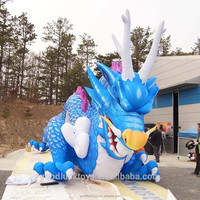 inflatable blue dragon balloon