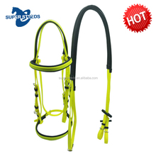 Colorful Cold Resistance Adjustable pvc one noseband horse riding bridle and rein