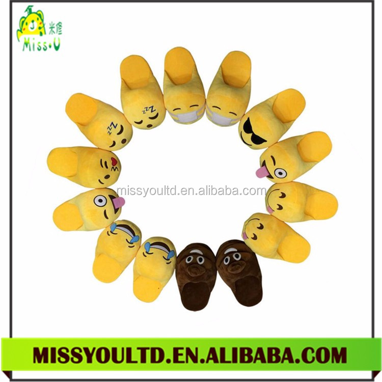 Wholesale Child Indoor Emoji Slipper