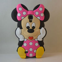 new products cute 3D carton pink minnie mouse soft silicone case & for SAMSUNG Galaxy S4 case & for S4 i9500 case