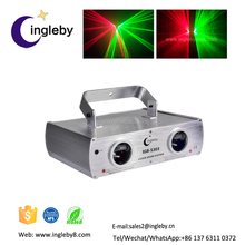 Supplier holographic projector DMX DJ Disco Party Red+Green 2 lens Laser Lighting dual stage twinkling star pin laser projector