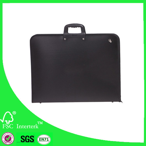 PP materials 35x46cm artist bag with black color art portfolio case